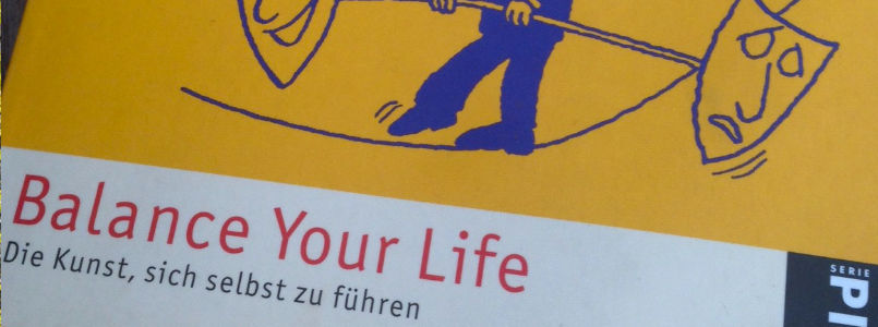 "Buchtitel ""Balance your life"""