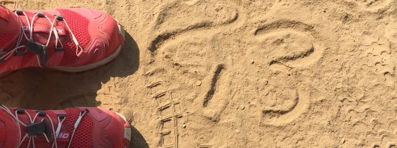 2,3 im Sand - Skalierung